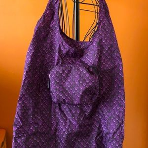 Coach folding nylon tote